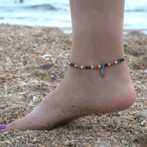 Jewelry - Boho Style Beaded Feather  Anklet